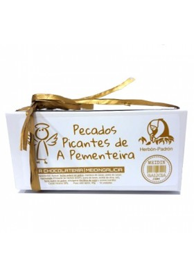 caja bombones mermelada pimiento picante